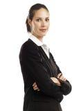 Bedrijfs vrouw met zwart kostuum 2 Stock Afbeeldingen