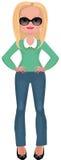 Bedrijfs vrouw in modieuze kleren Royalty-vrije Illustratie