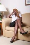 Bedrijfs vrouw op de telefoon Stock Foto's
