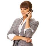 Bedrijfs Vrouw op de telefoon Royalty-vrije Stock Foto's