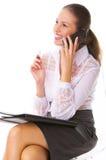 Bedrijfs Vrouw op de telefoon Stock Afbeelding