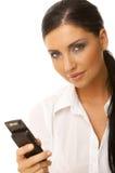 Bedrijfs Vrouw op de telefoon Royalty-vrije Stock Foto