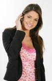 Bedrijfs vrouw op de telefoon Royalty-vrije Stock Afbeeldingen