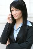 Bedrijfs Vrouw op de Telefoon van de Cel Stock Fotografie