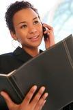 Bedrijfs Vrouw op Telefoon Stock Foto