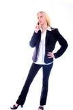 Bedrijfs Vrouw op Telefoon Stock Foto's