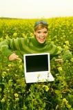 Bedrijfs Vrouw Openlucht Royalty-vrije Stock Foto's