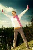 Bedrijfs Vrouw Openlucht Royalty-vrije Stock Fotografie