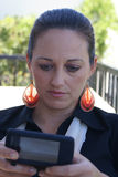 Bedrijfs Vrouw Texting Stock Fotografie