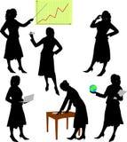 Bedrijfs vrouw - vector Stock Foto's