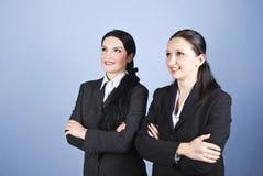 Bedrijfs vrouwen die aan de toekomst kijken Stock Foto's