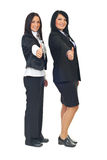 Bedrijfs vrouwen die duimen geven Royalty-vrije Stock Afbeeldingen