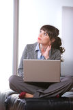 Bedrijfs vrouwen modern bureau Stock Afbeeldingen