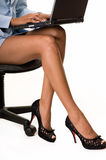 Bedrijfs vrouwenbenen royalty-vrije stock foto
