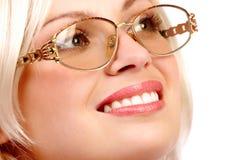 Bedrijfs vrouwenglimlach royalty-vrije stock afbeeldingen