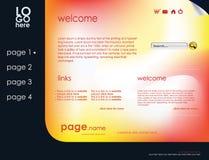 Bedrijfs websitemalplaatje Royalty-vrije Stock Foto