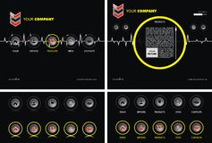 Bedrijfs websitemalplaatje Royalty-vrije Stock Foto's