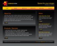 Bedrijfs websitemalplaatje Stock Foto's