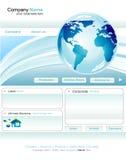 Bedrijfs websitemalplaatje Stock Foto