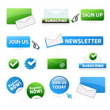 Bedrijfs websitepictogrammen Stock Afbeeldingen