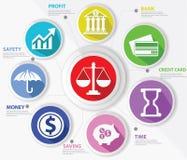 Bedrijfs, Wets en financiënconcept, Samenvatting Stock Fotografie