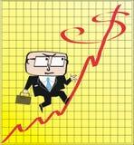 Bedrijfs winstbeeldverhaal Stock Afbeelding