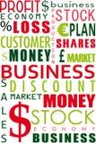 Bedrijfs woordcollage Stock Fotografie