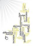 Bedrijfs woorden/vector Stock Fotografie