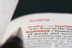 Bedrijfs woordenboek royalty-vrije stock foto