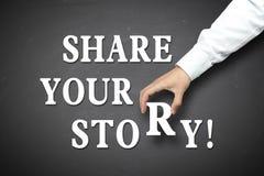 Bedrijfsaandeel uw verhaalconcept royalty-vrije stock fotografie