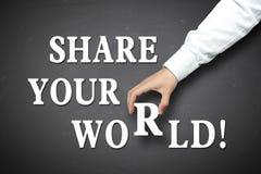 Bedrijfsaandeel uw wereldconcept stock fotografie