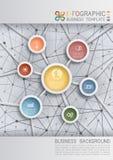 Bedrijfsachtergrond met Netwerk Stock Foto