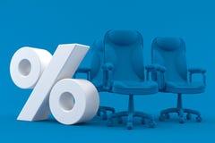 Bedrijfsachtergrond met percentensymbool Stock Afbeeldingen