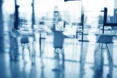Bedrijfsachtergrond van a met vergaderzaal Dubbele blootstelling stock foto