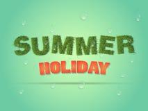 Bedrijfsaffiche voor vakantie stock illustratie