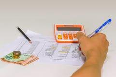 Bedrijfsanalyse, bedrijfsinkomenslijsten en grafieken Royalty-vrije Stock Afbeeldingen