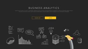 Bedrijfsanalytics vlak malplaatje, vector Stock Afbeelding