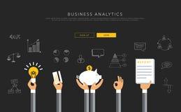 Bedrijfsanalytics vlak malplaatje, vector Royalty-vrije Stock Afbeeldingen