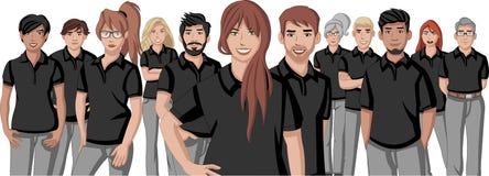 Bedrijfsbeeldverhaaljongeren stock illustratie