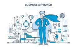 Bedrijfsbenadering en project, controle en tijdbeheer, marketing, analyse vector illustratie
