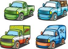 Bedrijfsbestelwagens Stock Foto
