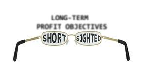 Bedrijfsbijziendheids Shortsighted Illustratie Stock Afbeeldingen
