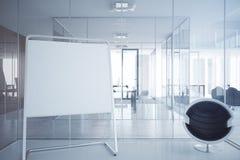 Bedrijfsbinnenland met whiteboard royalty-vrije illustratie