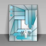 Bedrijfsboekje met pijlen vector illustratie