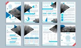Bedrijfsbrochure, malplaatje of vliegerreeks Royalty-vrije Stock Afbeeldingen