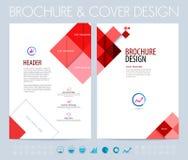 Bedrijfsbrochure, vlieger en de lay-out van het boekjesontwerp Vectorillus Stock Afbeelding
