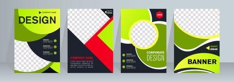 Bedrijfsbroodje omhoog Rechtopstaande reizigerontwerp bannermalplaatje Presentatie en Brochure vector illustratie