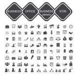 Bedrijfsbureau en bedrijfspersoonspictogram Stock Afbeeldingen