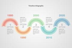 Bedrijfschronologie infographic malplaatje Vector Royalty-vrije Stock Foto's