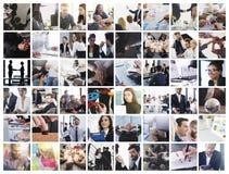 Bedrijfscollage met scène van bedrijfspersoon op het werk royalty-vrije stock afbeelding